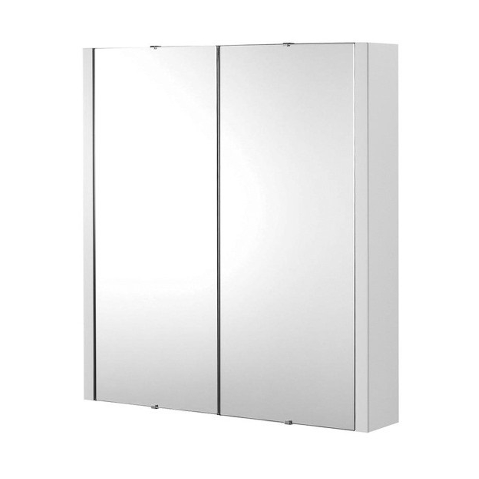 White Gloss Mirrored Bathroom Cabinet