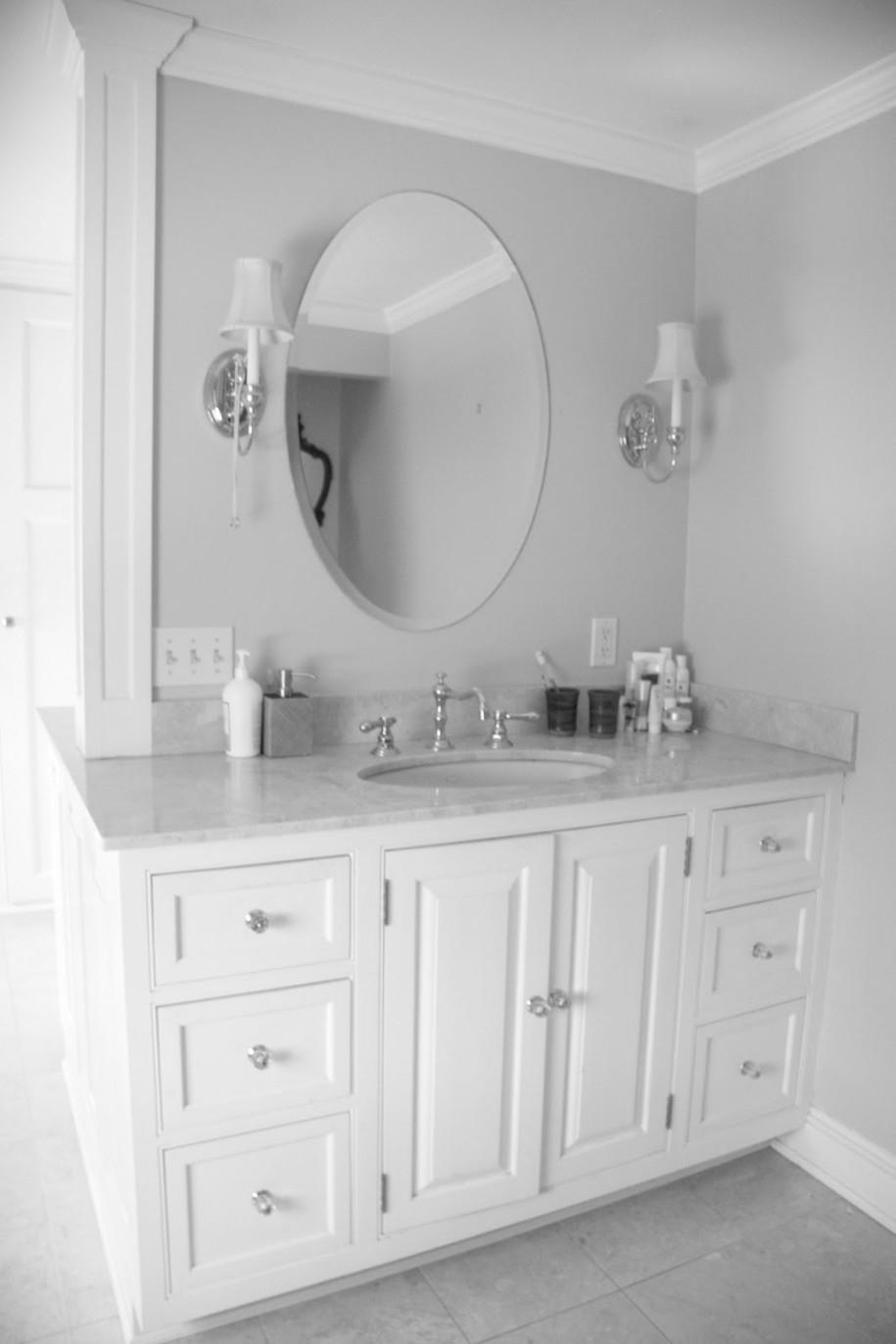 White Mirror Bathroom Vanity