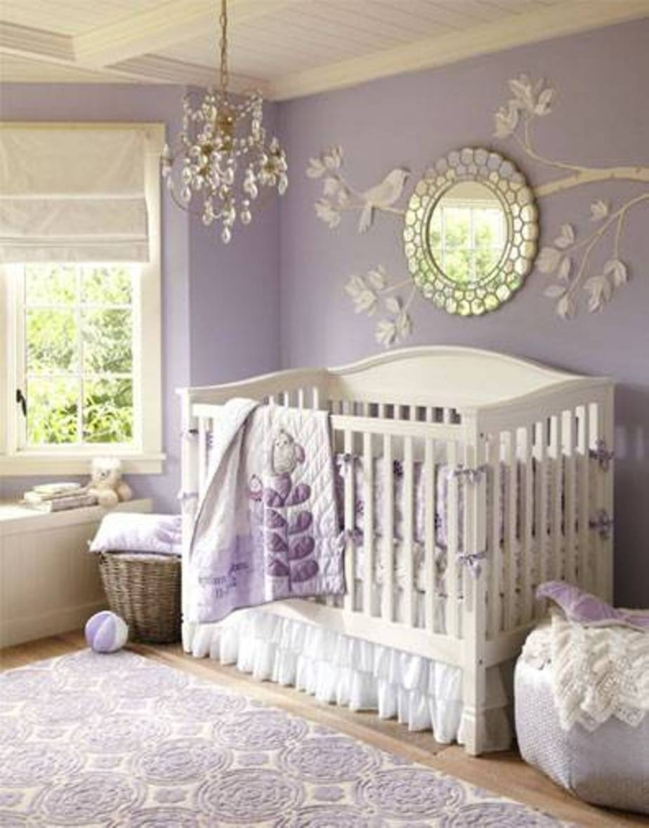 White Nursery Wall Mirror