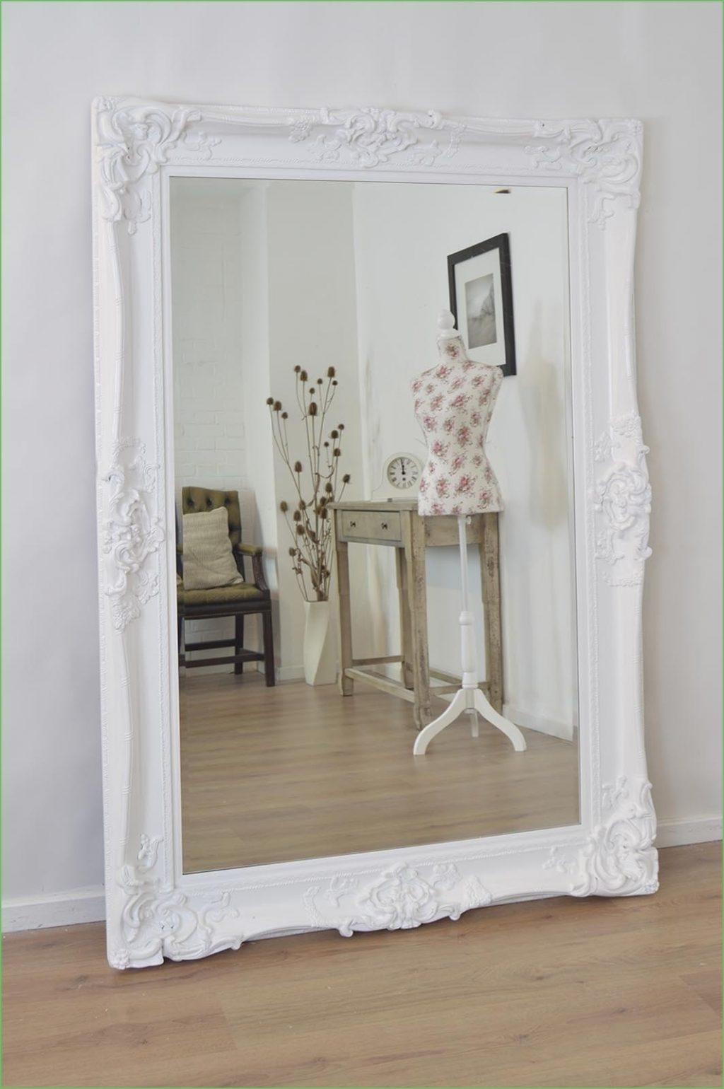 White Shabby Chic Wall Mirror