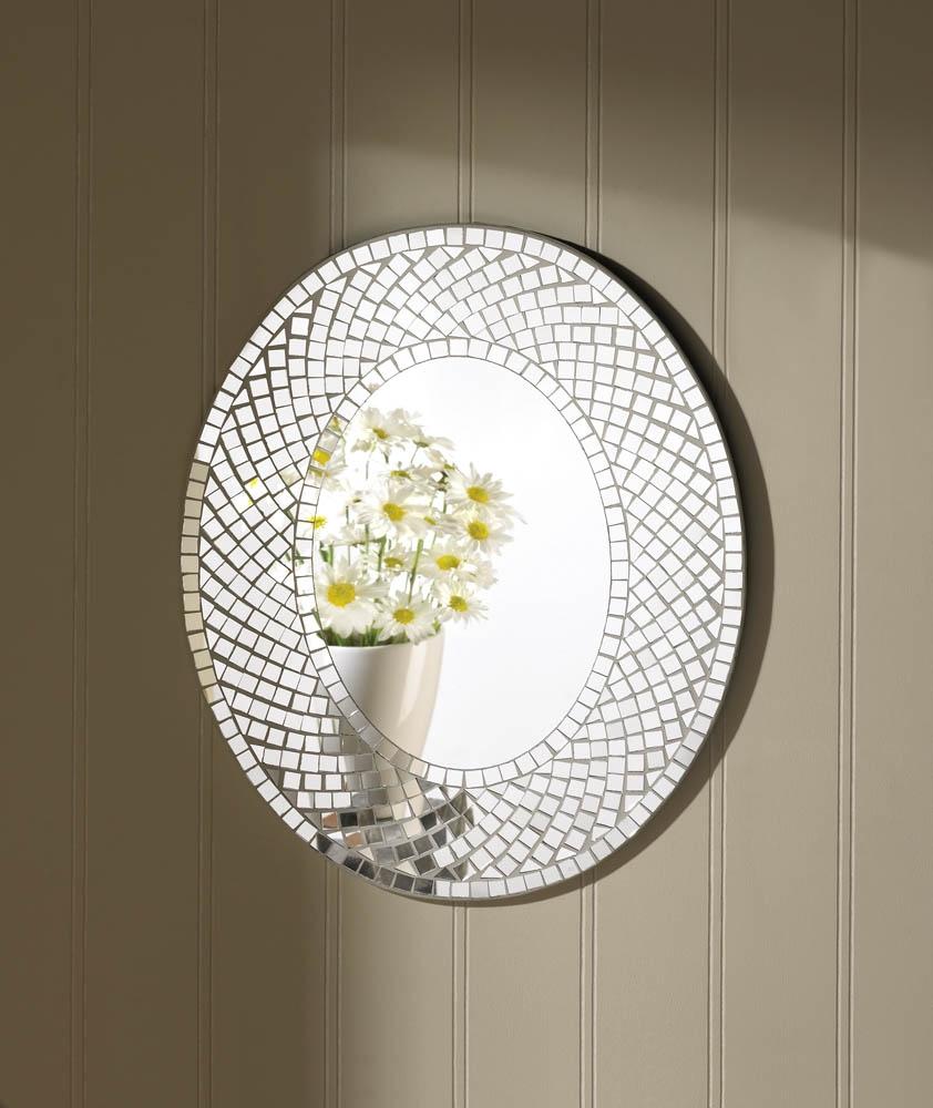 White Sparkle Wall Mirror