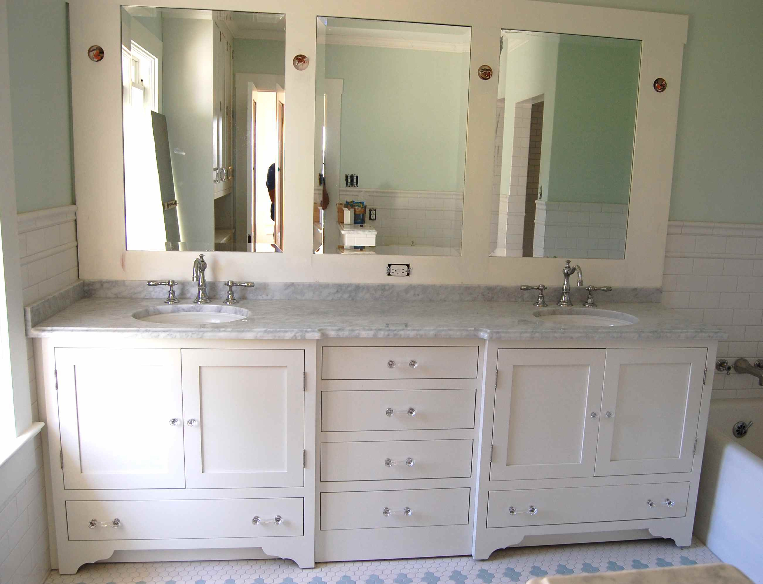 White Vanity Mirror For Bathroom