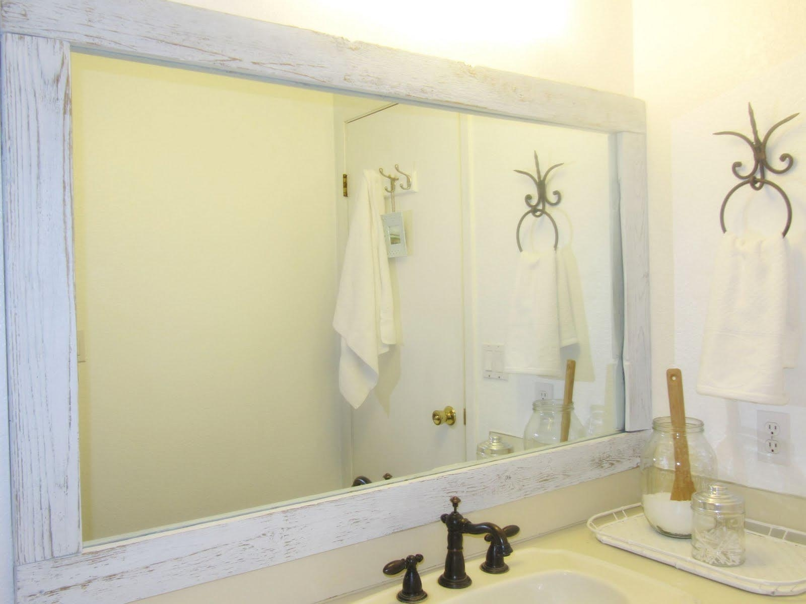 White Wooden Framed Wall Mirrors White Wooden Framed Wall Mirrors large bathroom wall mirror with rustic carbonized pine wood frame 1600 X 1200