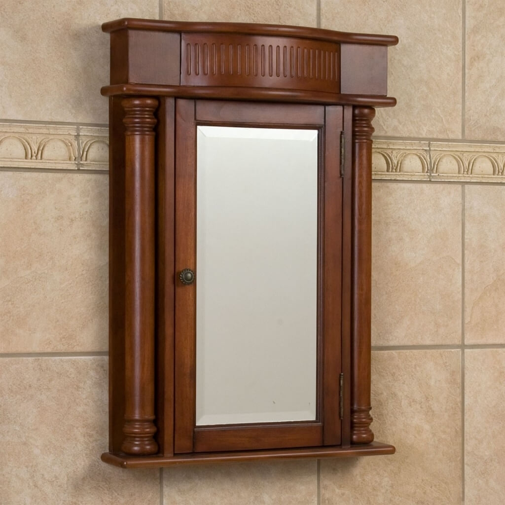 Wood Bathroom Mirror Medicine Cabinet