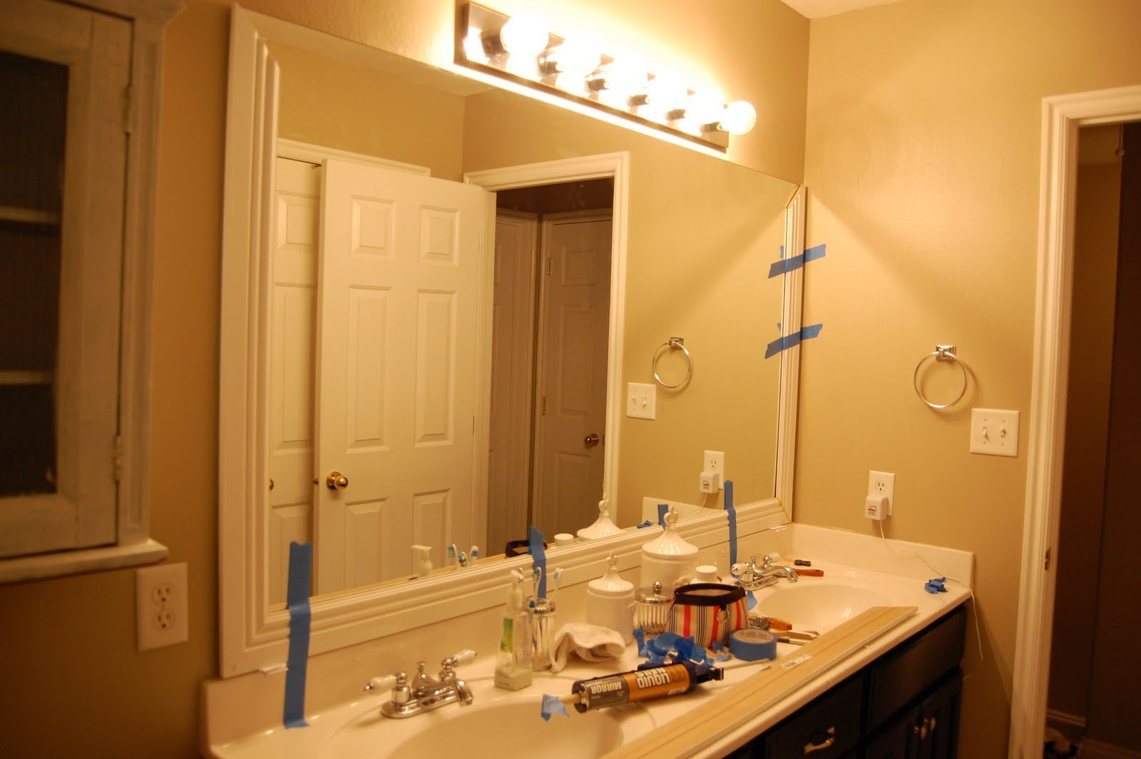 Wood Trim Bathroom Mirror