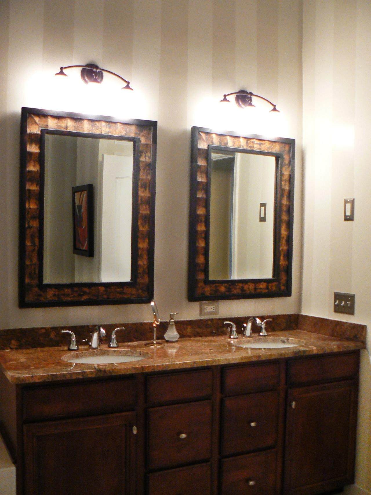 Wooden Bathroom Mirrors With Lights