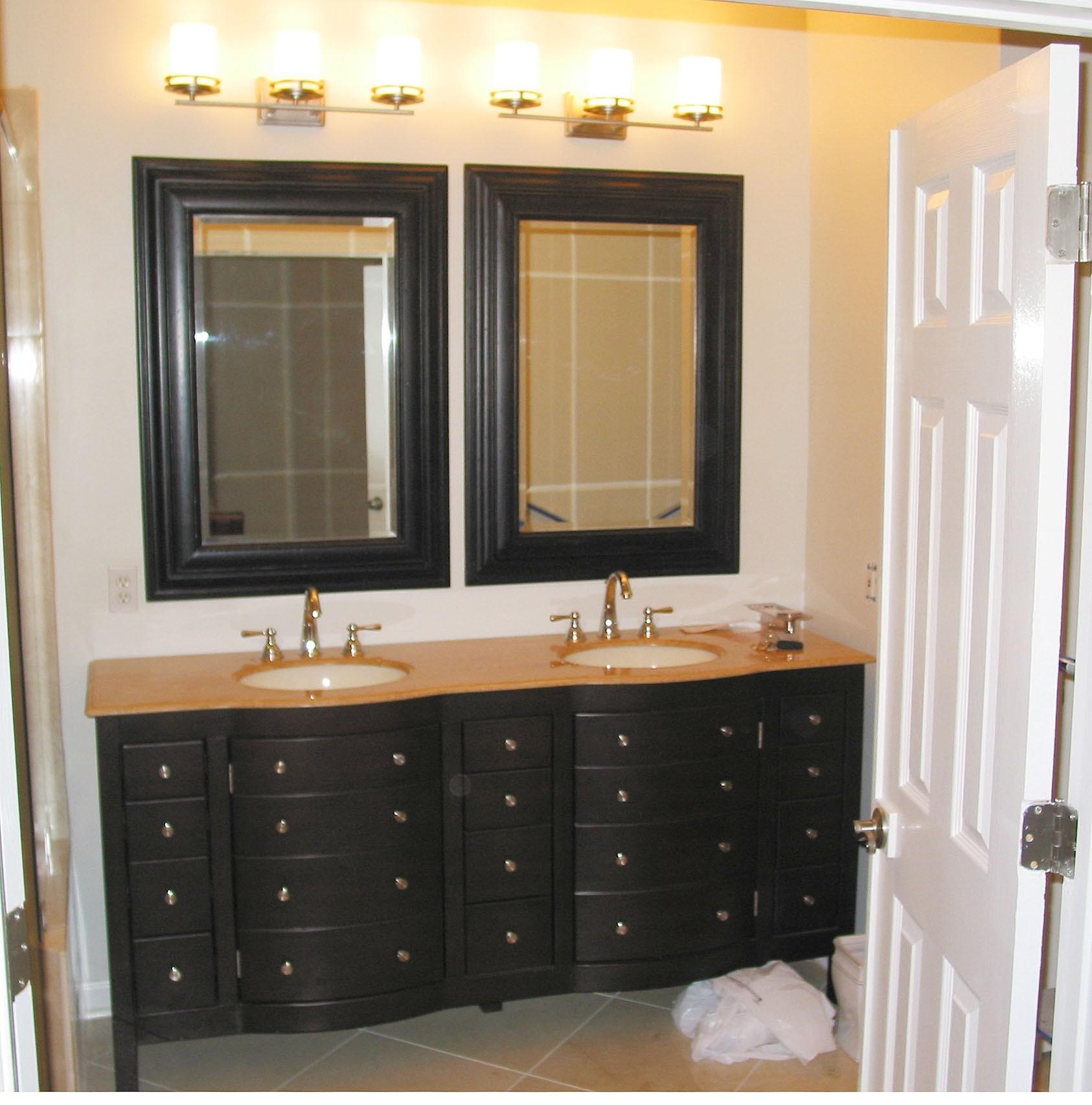 Wooden Bathroom Vanity Mirrors