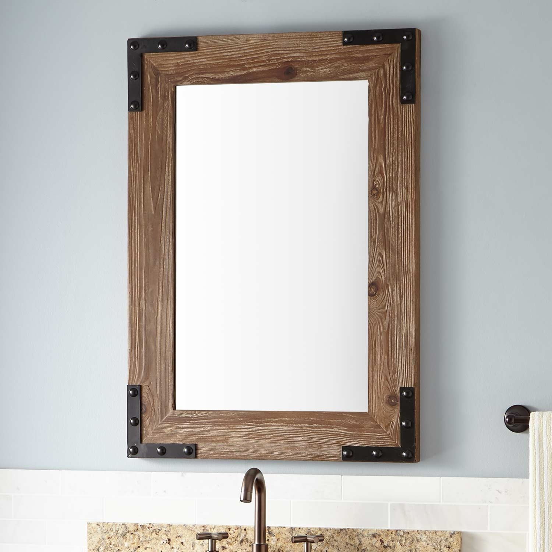 Wooden Framed Mirrors For Bathroom