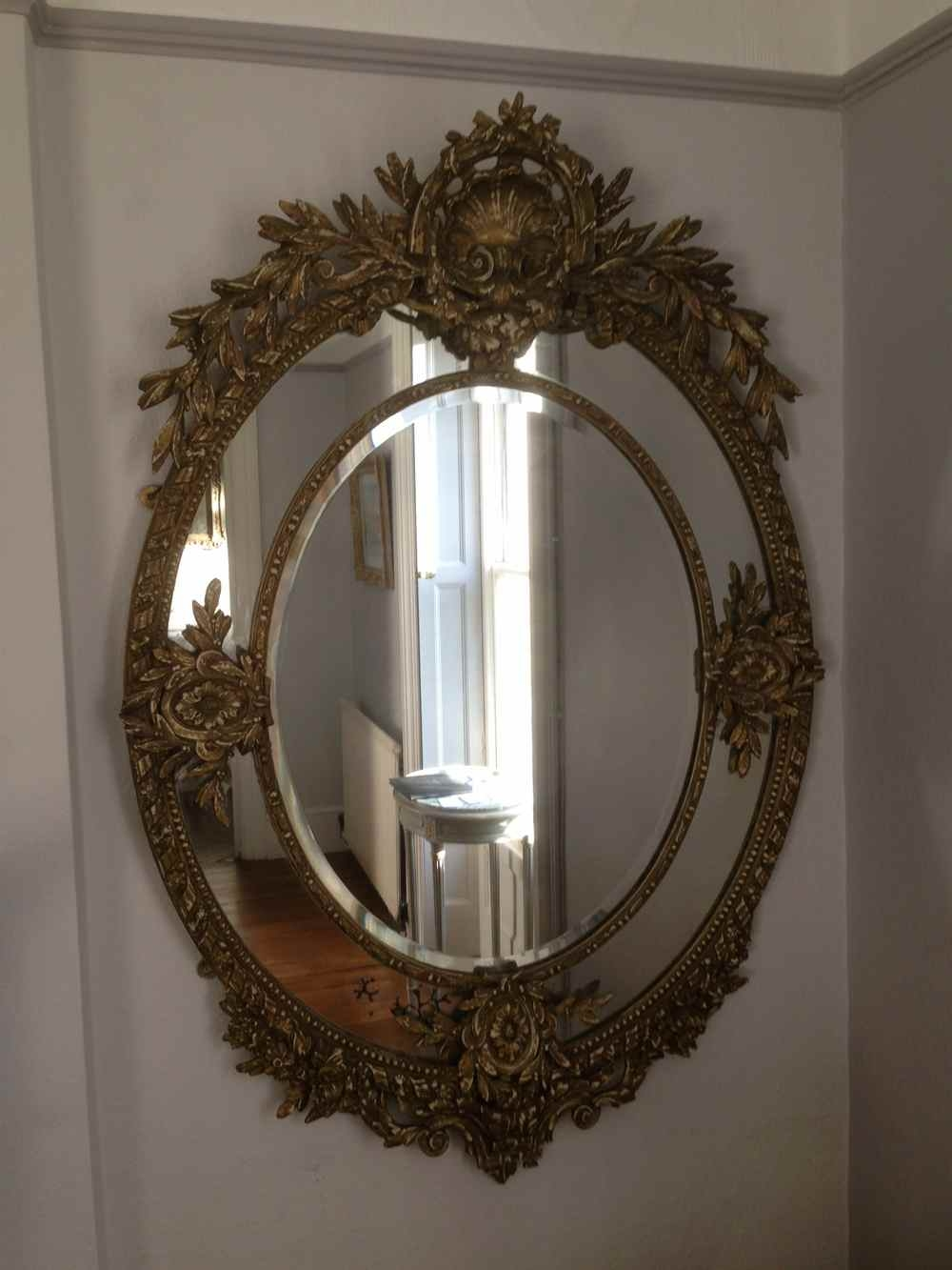 Wooden Wall Mirror Antique