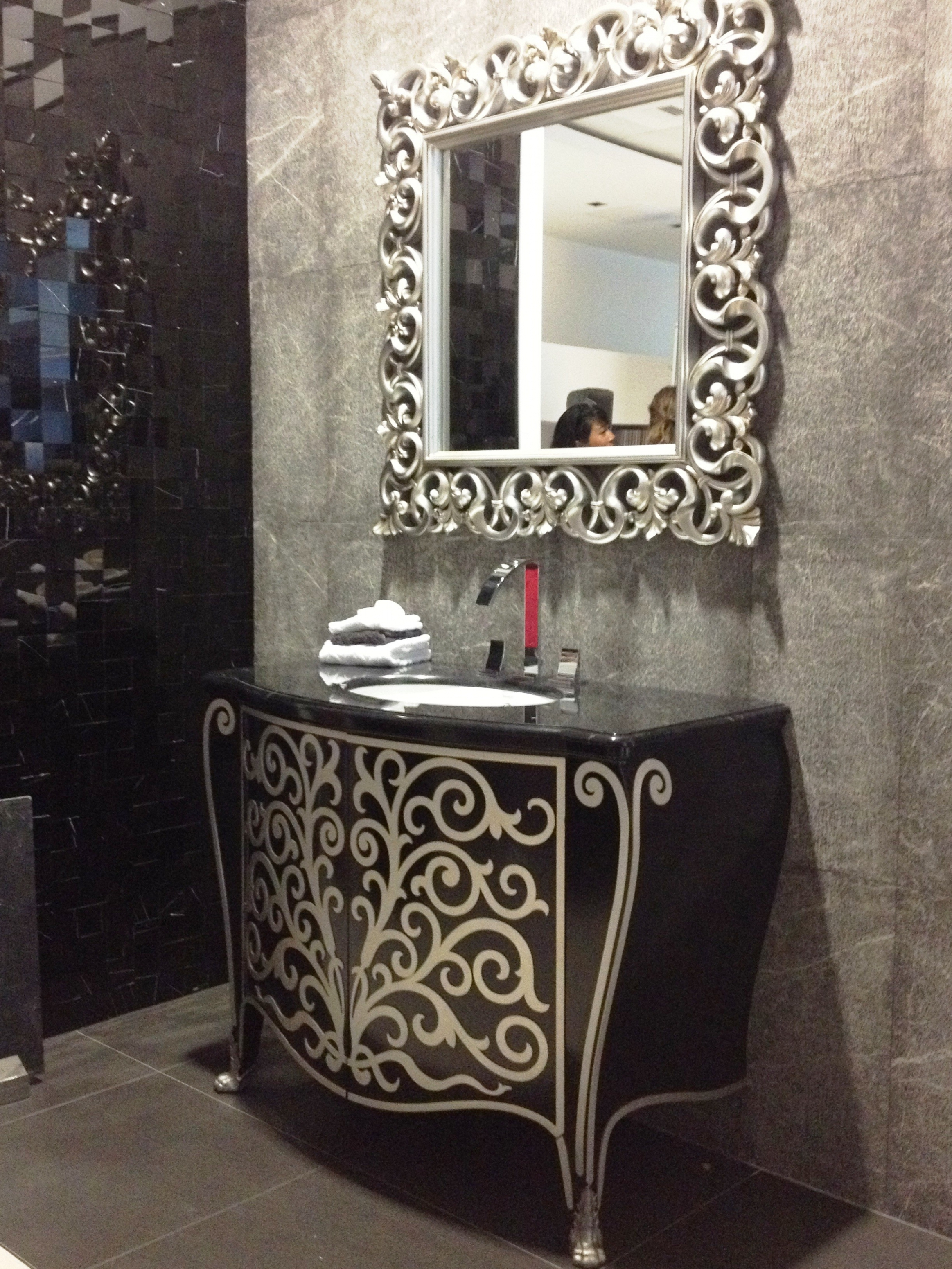 Wrought Iron Framed Bathroom Mirrors