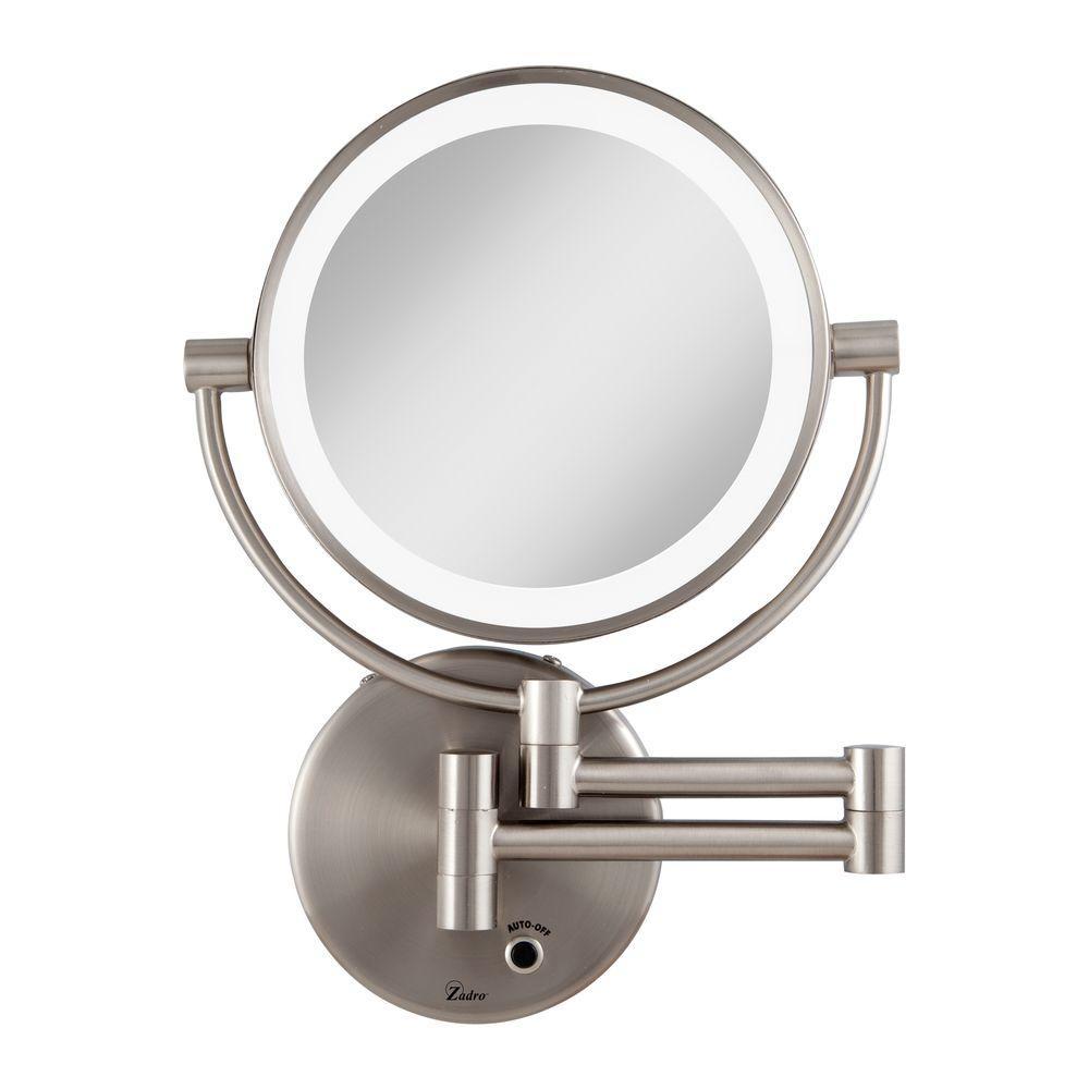 Zadro Wall Mount Makeup Mirror Zadro Wall Mount Makeup Mirror zadro 12 in l x 875 in w led lighted wall mirror in satin 1000 X 1000