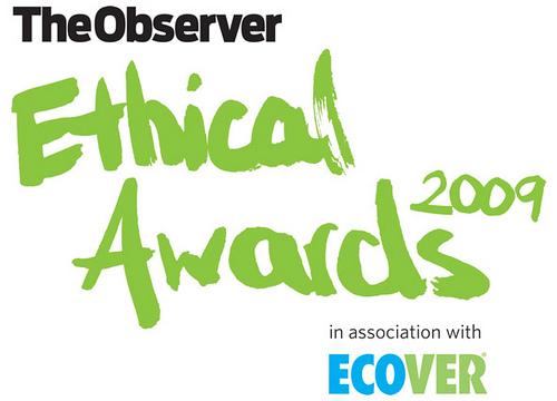 Ethical Awards logo 2009 green
