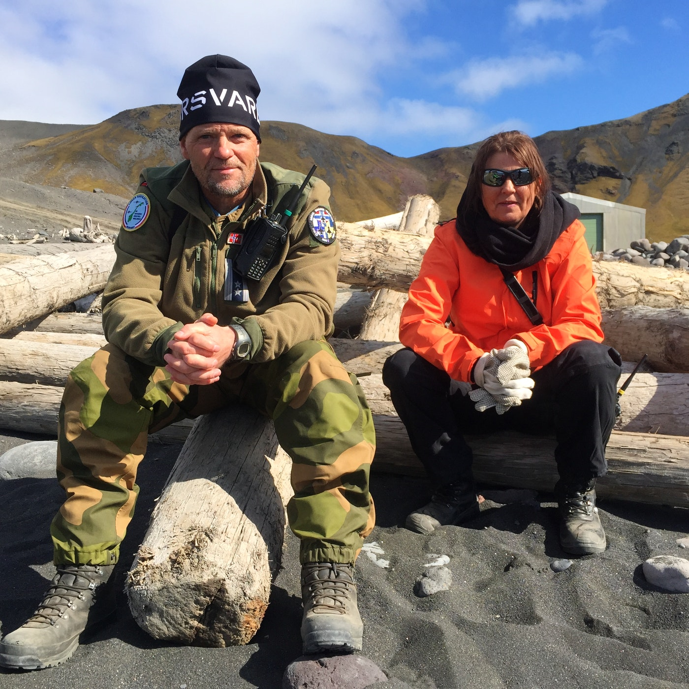 Station commander Wiggo Johansen and nurse Siw Landro. (Jennifer Kingsley)