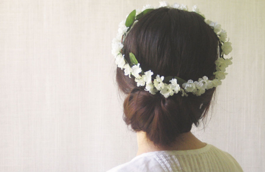 Flower Hair Updo Tutorial Etsy Crown