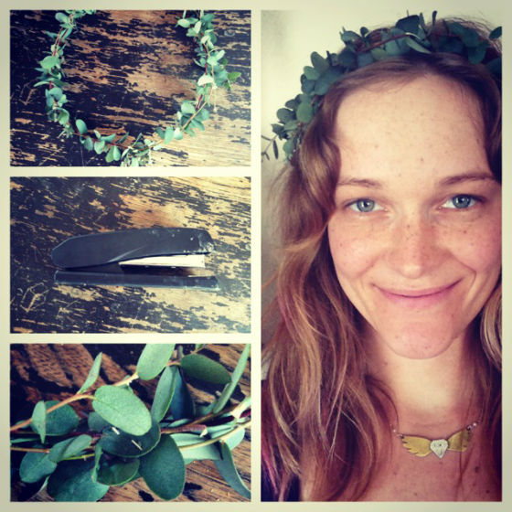 Flower Hair Updo Tutorial Leaf Crown