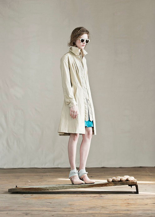 Feral Childe's Made in Midtown NYC Trench Coat in coated linen and soft cotton