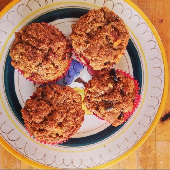 Healthy Fruity Morning Muffins
