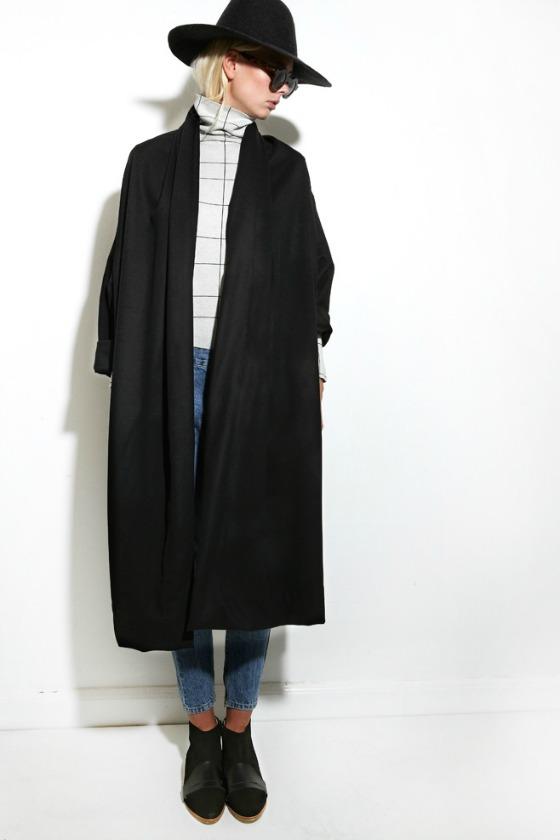 Mr Larkin Nomad Suni Coat Black