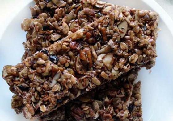 Natural Energy Bars Recipes Granola Fruit