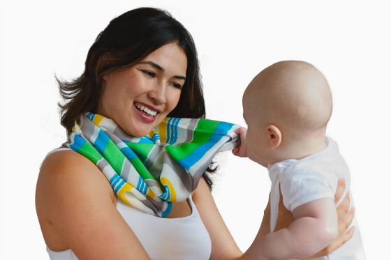 Nautical Element Scarf with baby