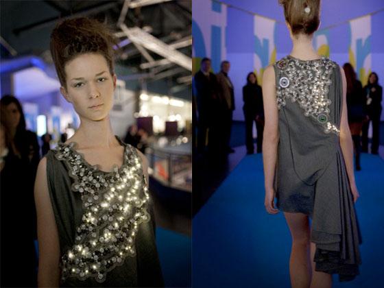 Pollution Fashion CO2 LED Dress