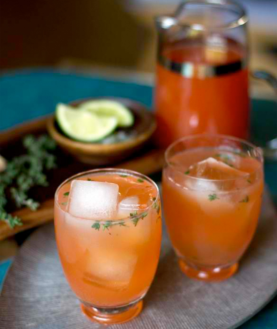 Summer Cocktails Blood Orange Thyme
