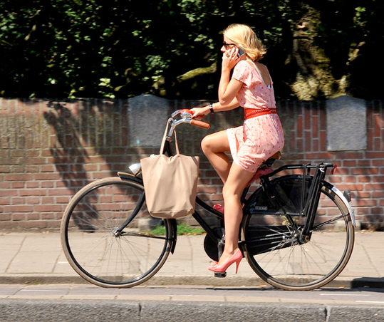 Womens Cycling Fashion Dresses and Heels