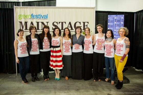 From left to right: Carrie Parry, Kristen Arnett, Amy DuFault, Emma Grady, Jessica Marati, Casey Jones, Greta Eagan, Amanda Coen, Jasmin Malik Chua, Sass Brown
