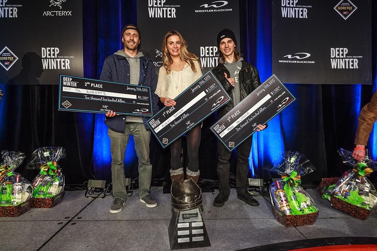 Ashley Barker won Arc'Teryx Deep Winter Photo Challenge