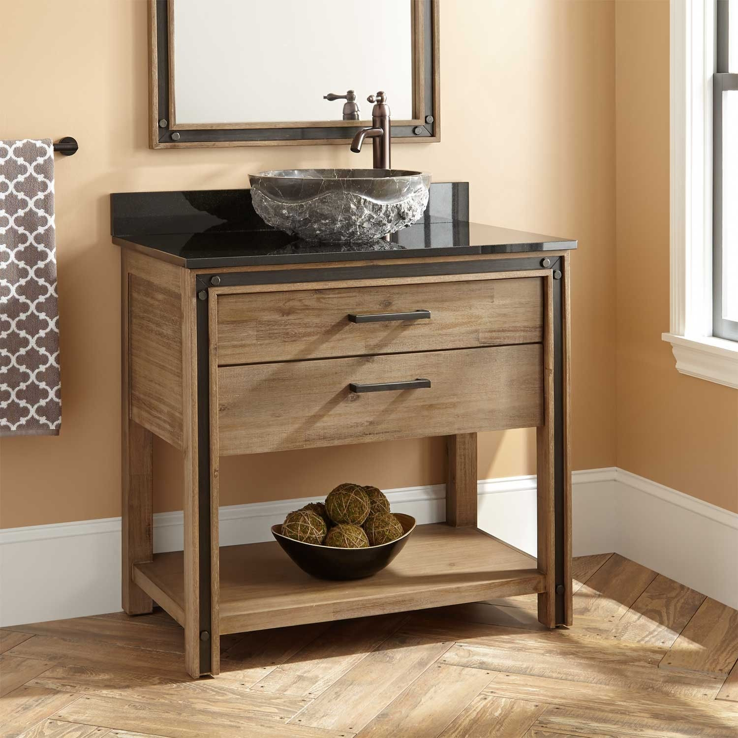 Bathroom Vanity Cabinet And Sink36 celebration vessel sink vanity rustic acacia vessel sink