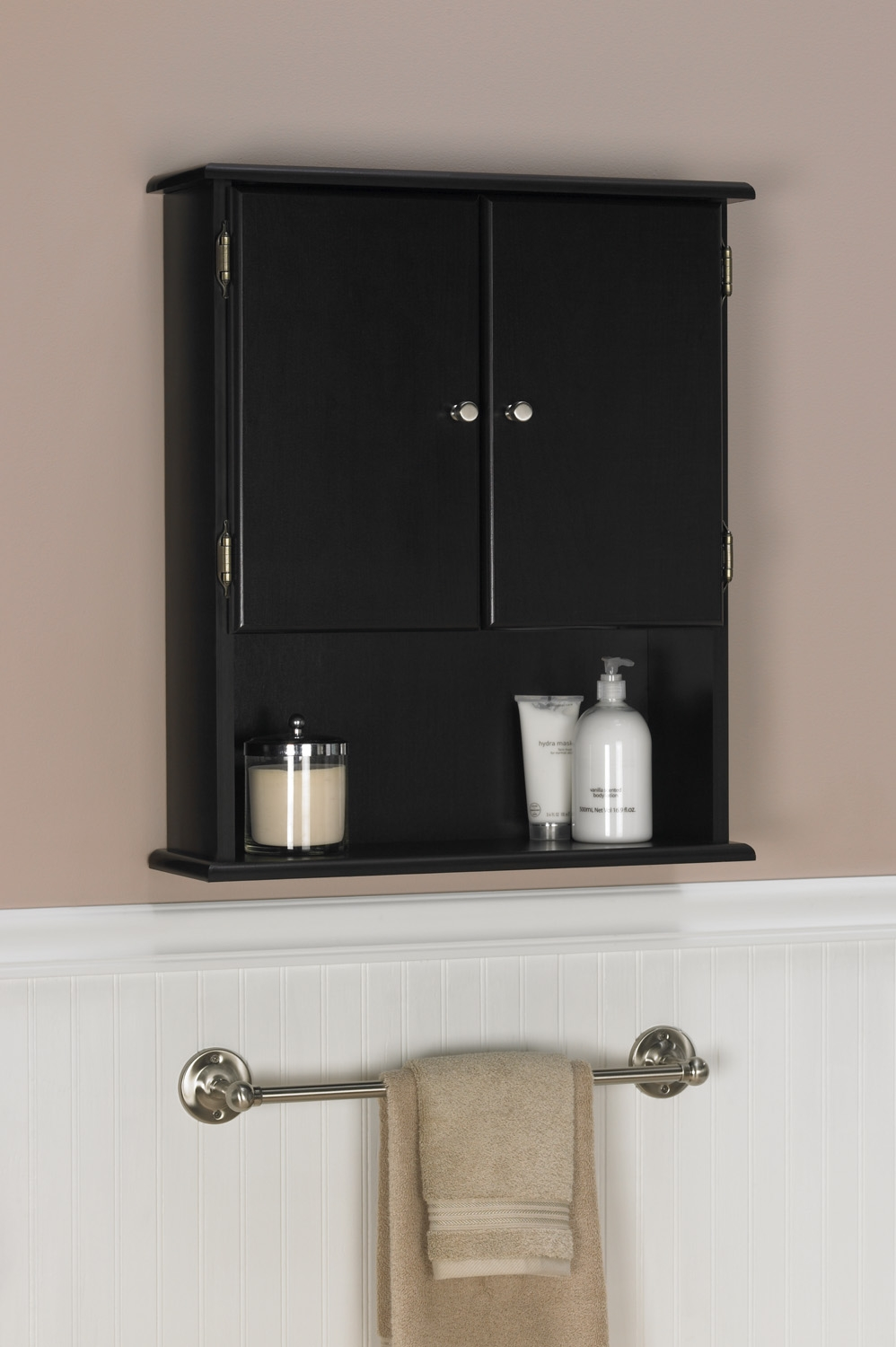 Black Cabinets For Bathroom