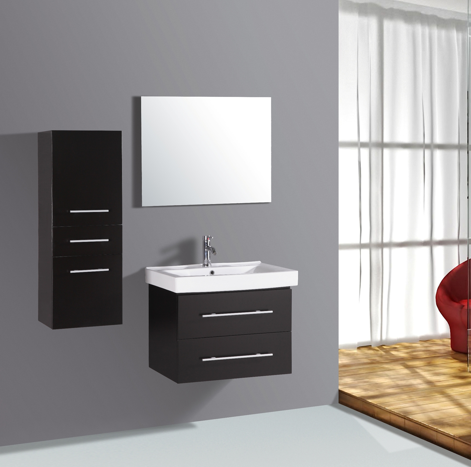 Contemporary Bathroom Wall Mounted Cabinets
