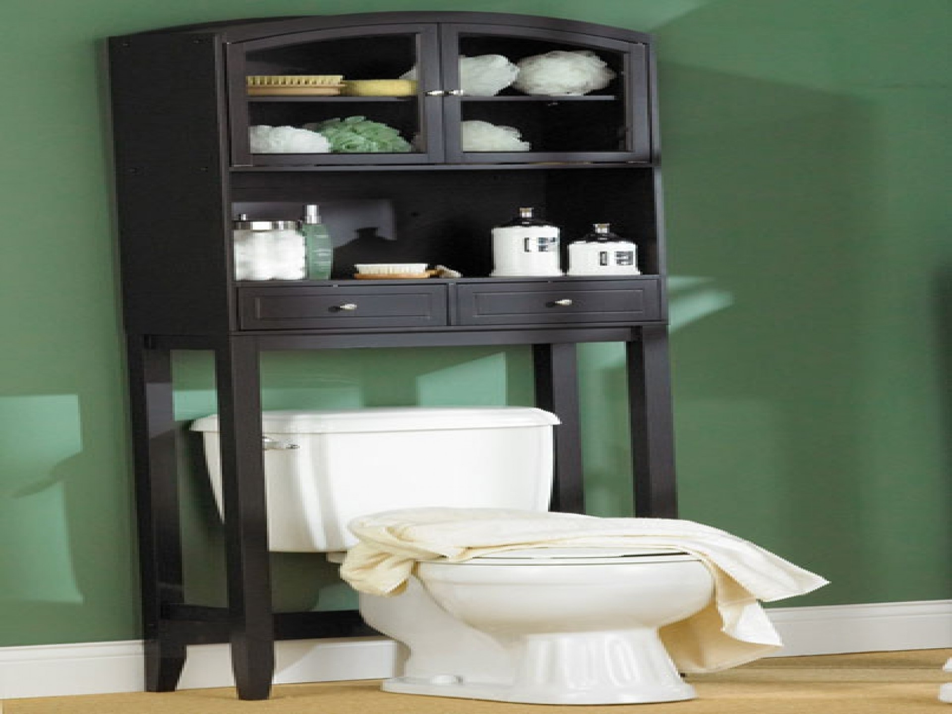 Free Standing Slim Tall Bathroom Cabinet With Six Drawers