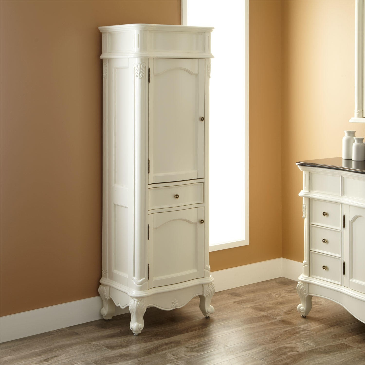 Freestanding Bathroom Linen Cabinet