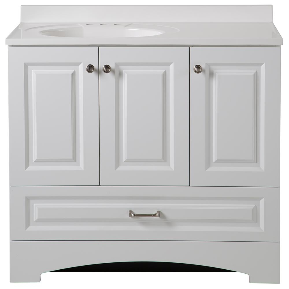 Home Depot Bathroom Vanities White