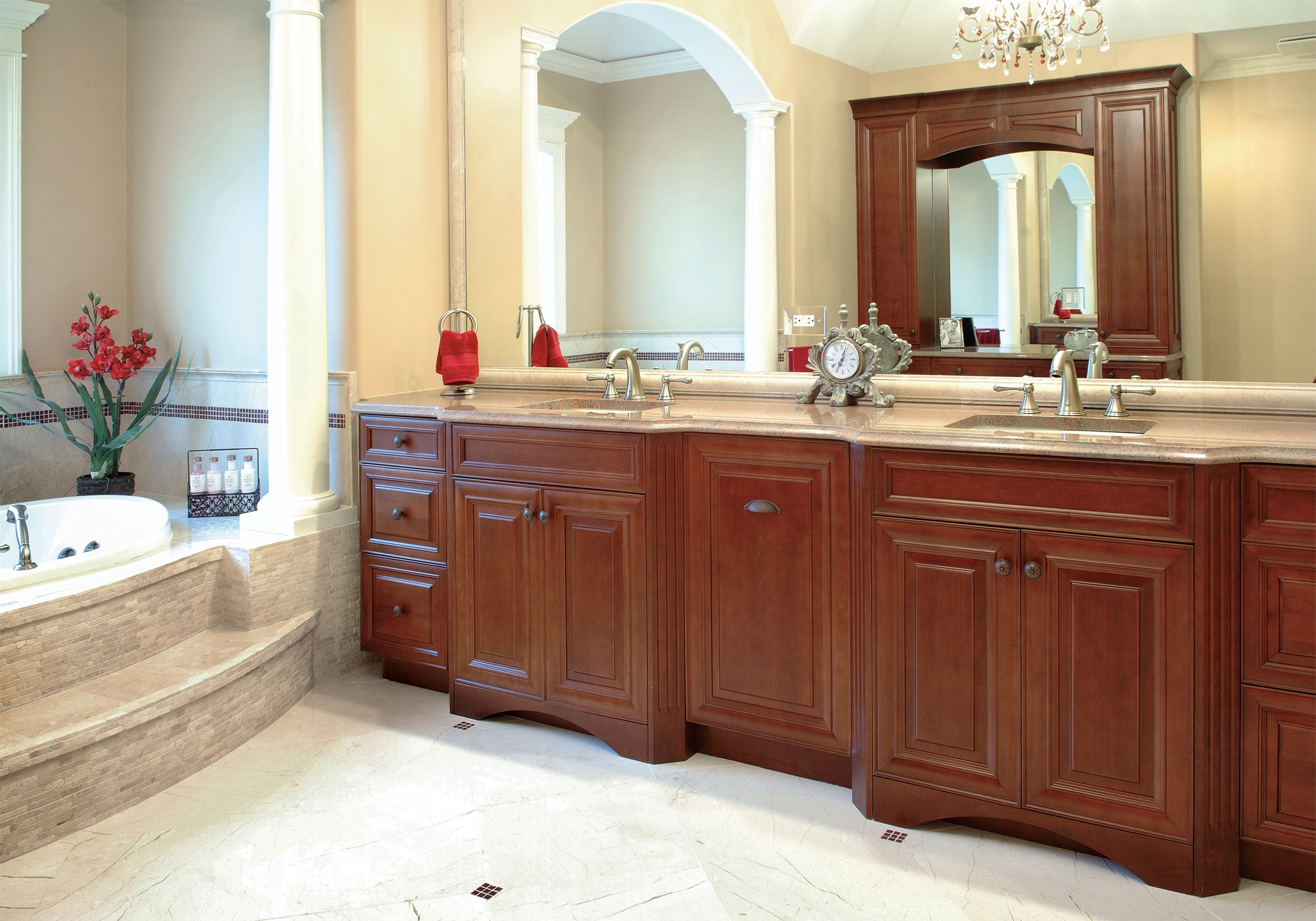 Kitchen Cabinets In The Bathroom