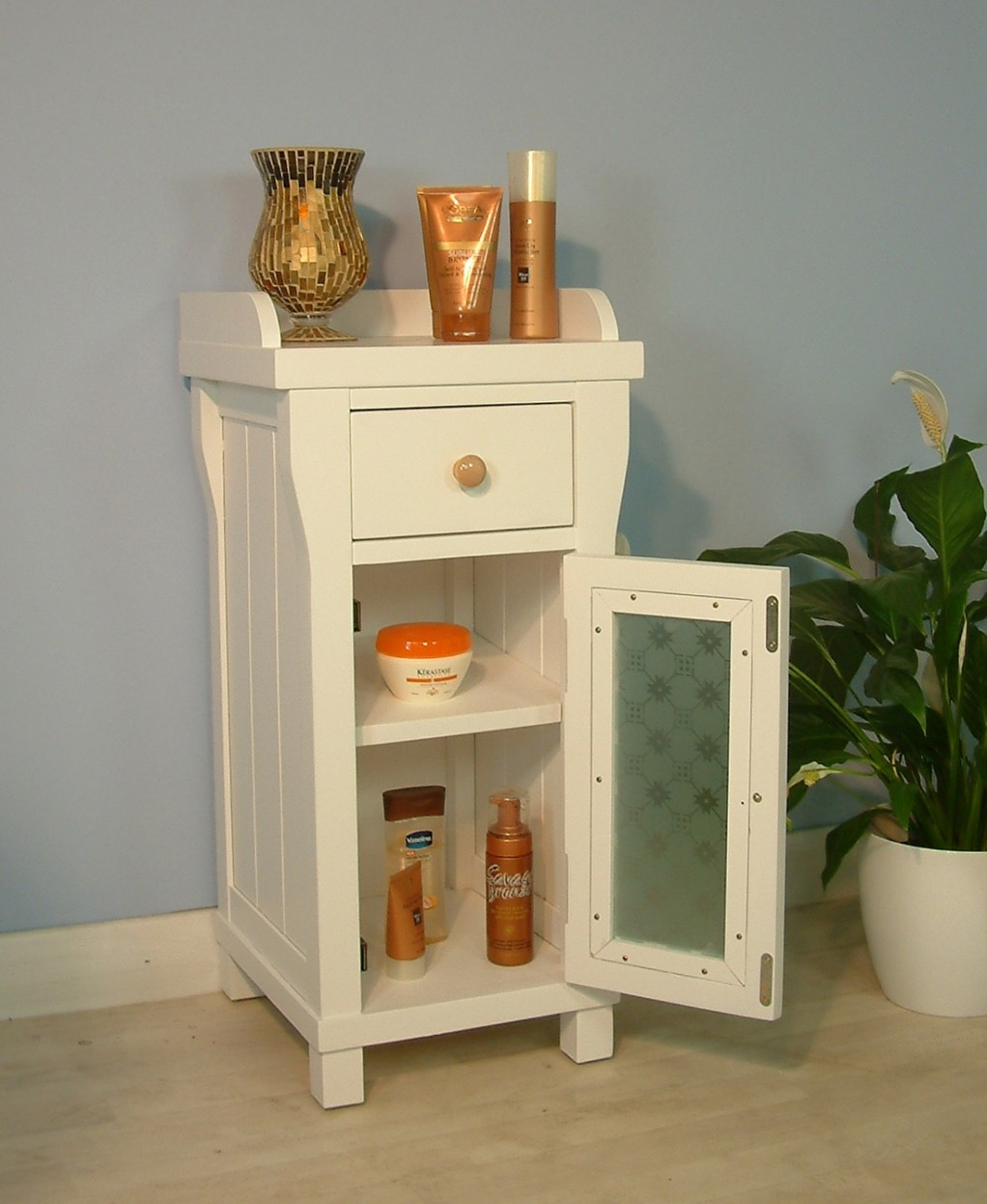 Small Standing Cabinet For Bathroom