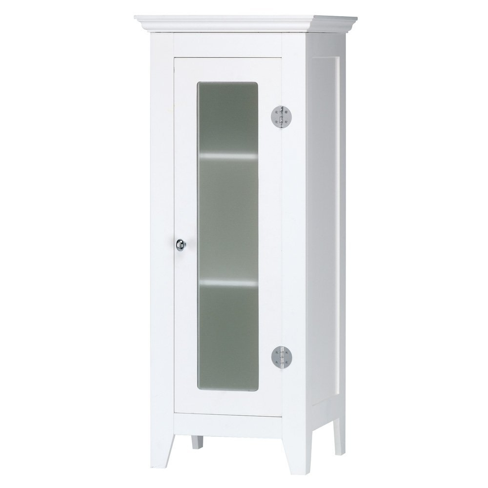 Small White Floor Cabinet For Bathroom