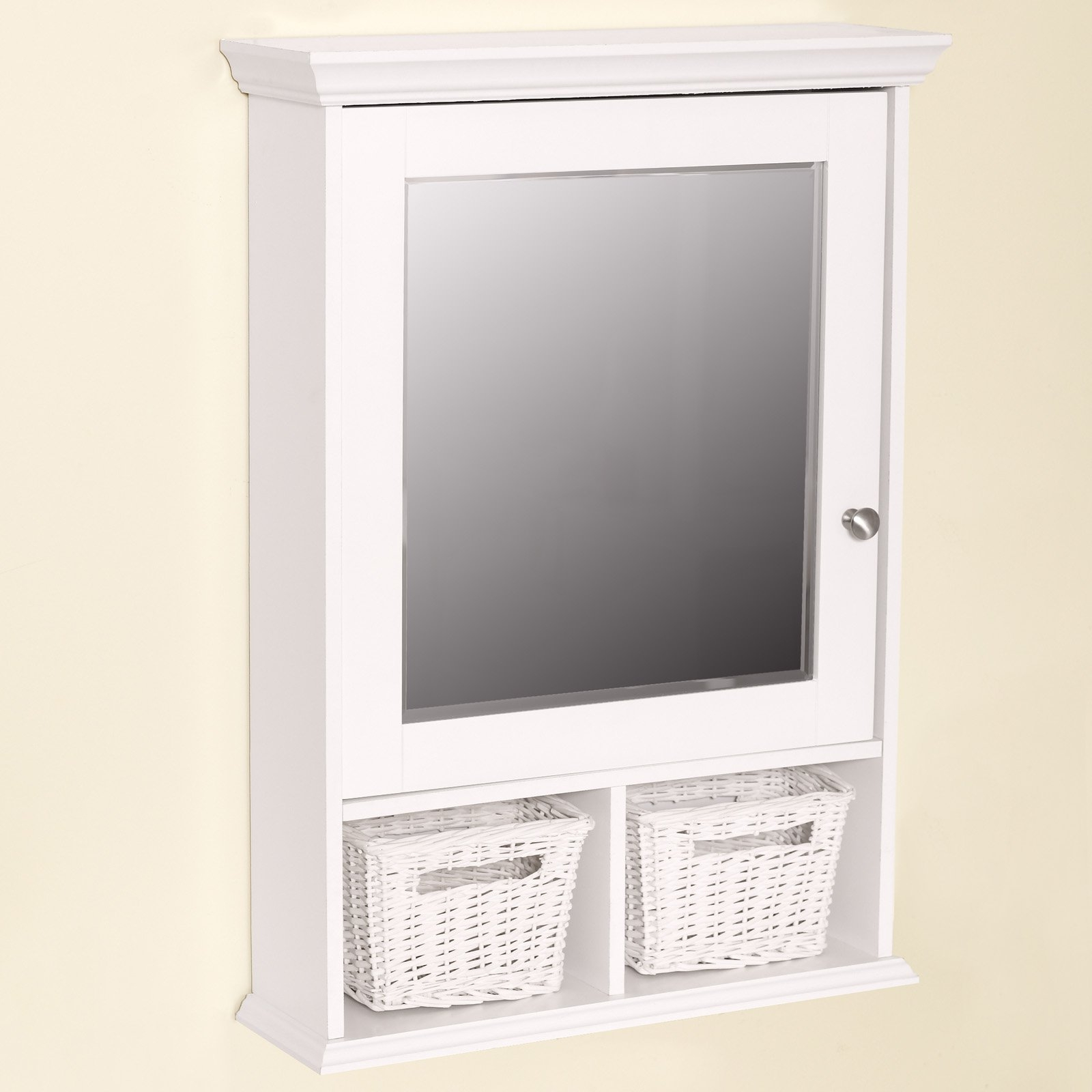White Bathroom Cabinet With Baskets