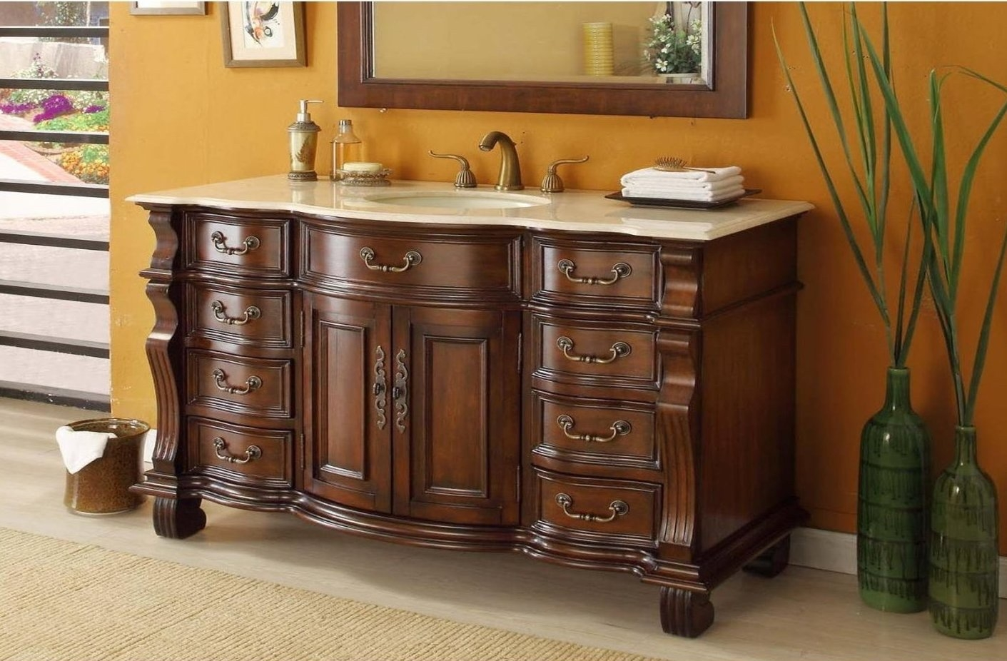 54 Inch Bathroom Vanity Without Top