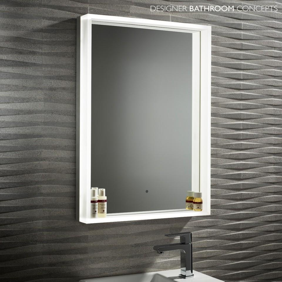 Permalink to Aura 50Cm Mirror Bathroom Cabinet With Led Lights
