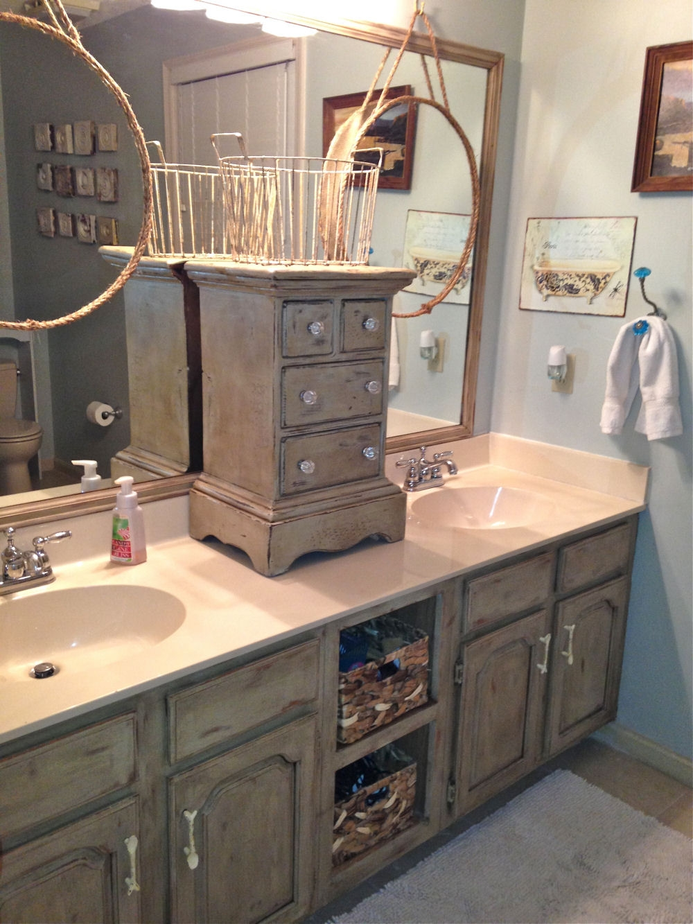 Bathroom Cabinet Remodel Ideasbathroom vanity makeover with annie sloan chalk paint