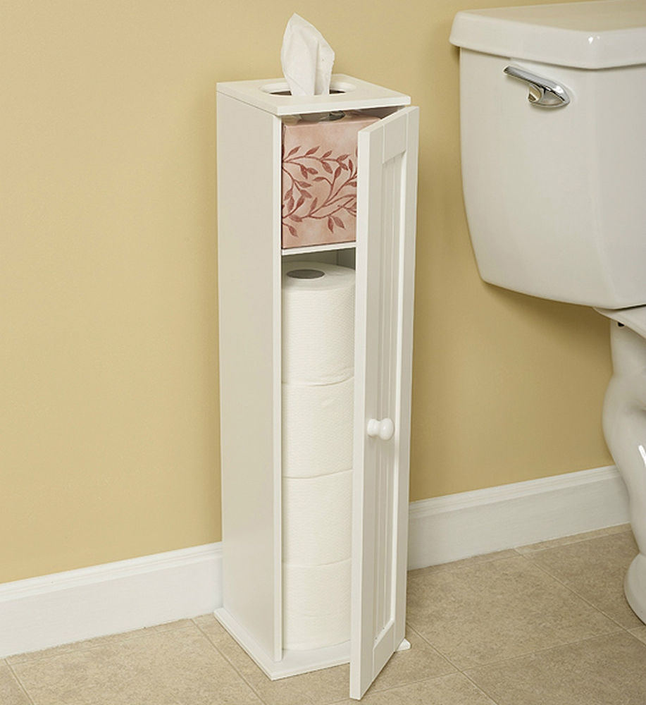 Bathroom Cabinet Toilet Roll Holder