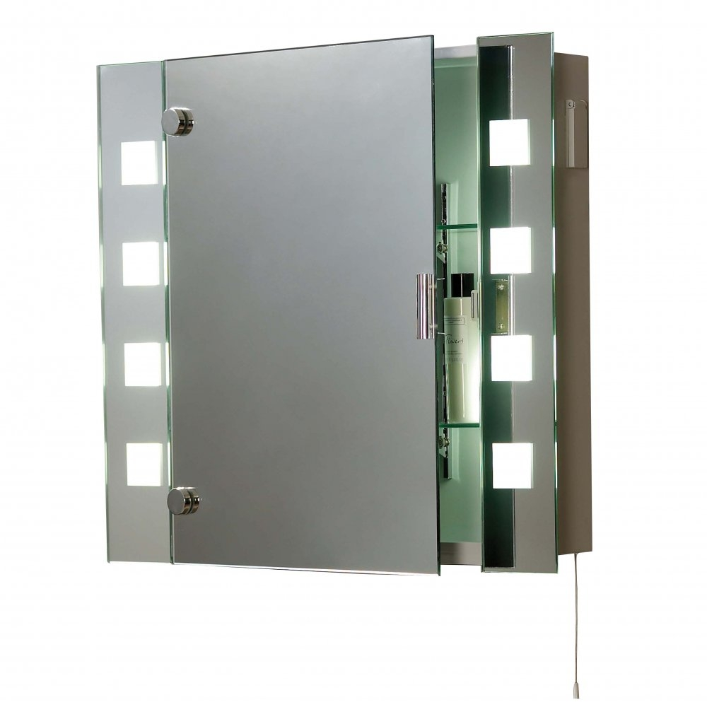 Bathroom Cabinet With Mirror And Light And Shaver Socket