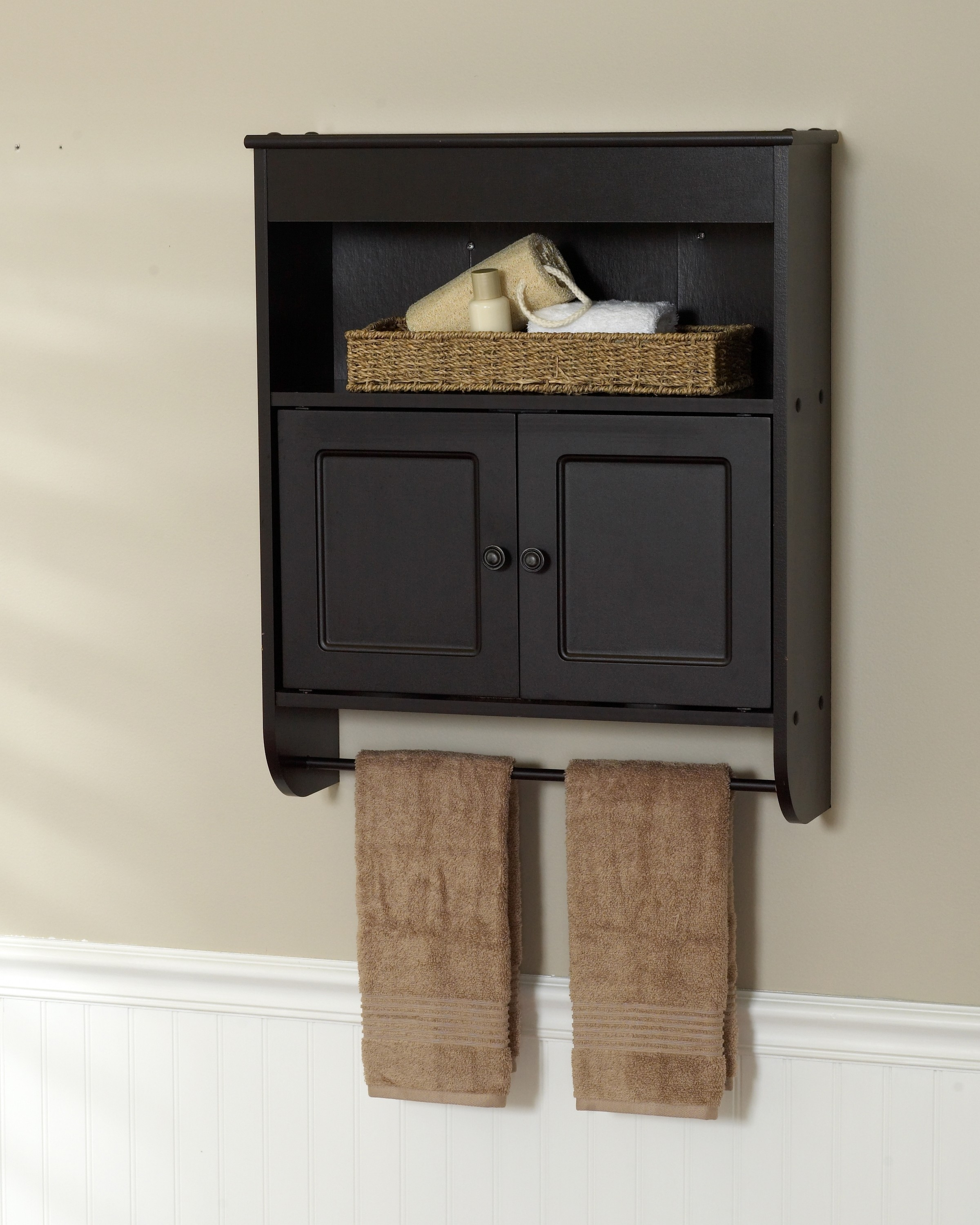 Bathroom Cabinet With Towel Rod