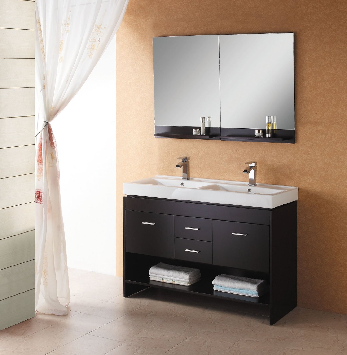 Bathroom Vanities With Drawers And Shelves