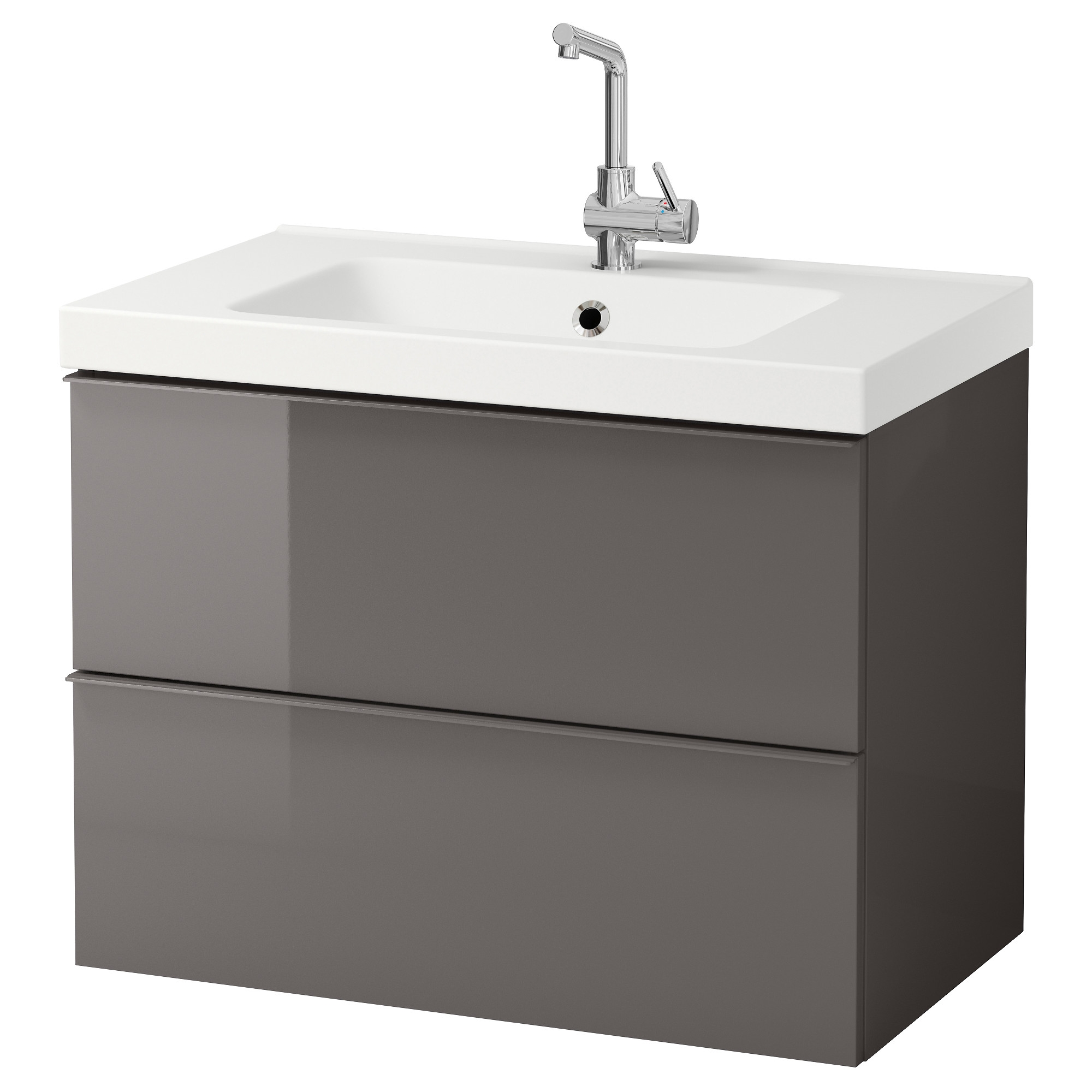 Bathroom Vanity Cabinets Ikeagodmorgon odensvik sink cabinet with 2 drawers high gloss