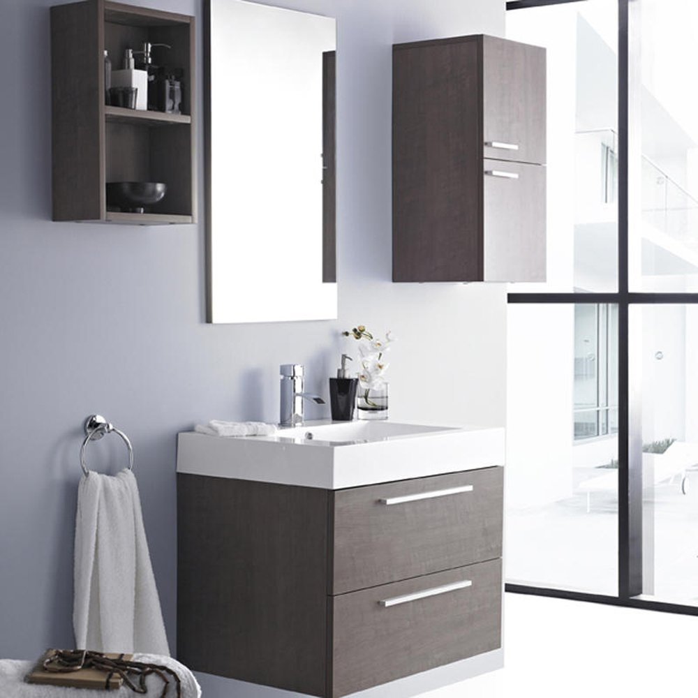 Bathroom Wall Cabinet With Side Shelves