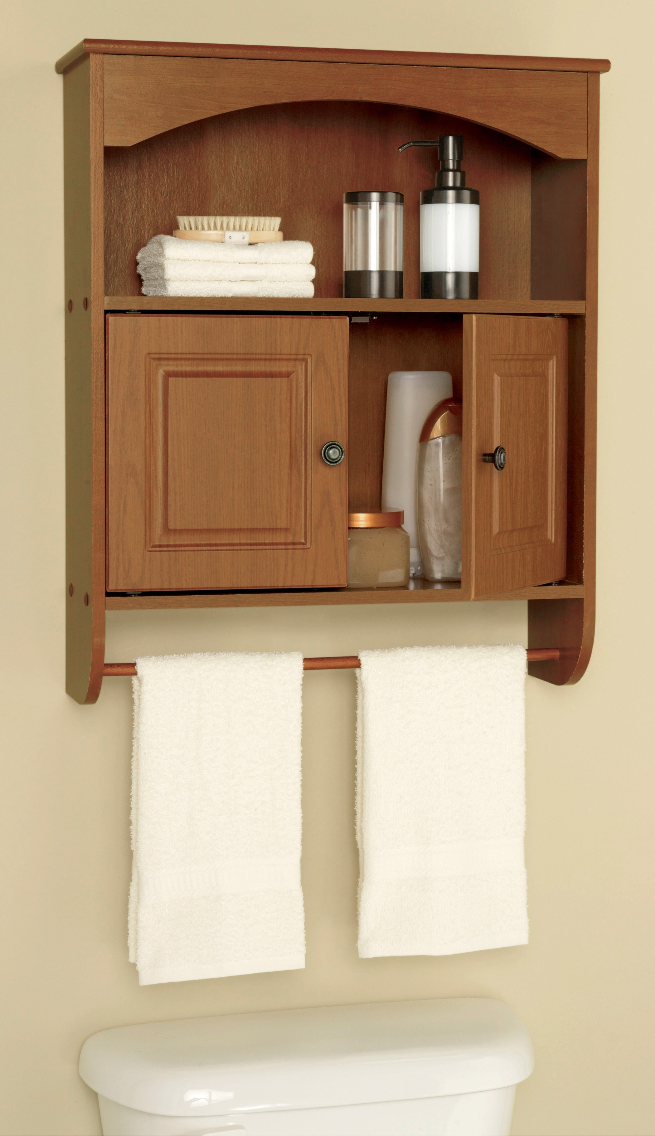 Bathroom Wall Cabinets For Towelsclassic wall mounted lacquered oak wood bathroom cabinet with