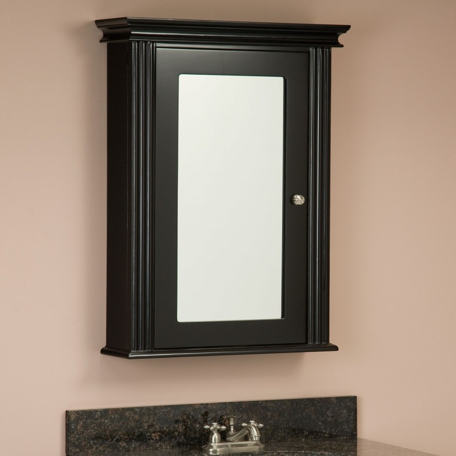 Black Mirrored Bathroom Cabinets